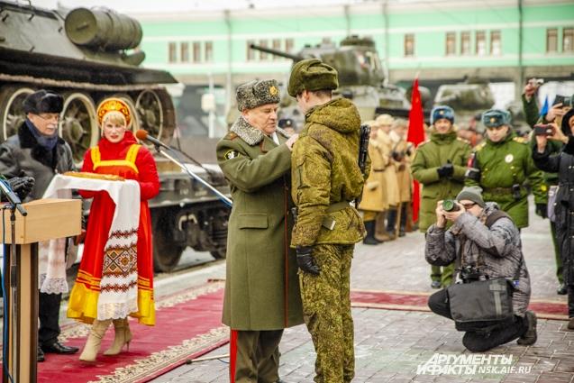 Танки Т-34 в Новосибирске.