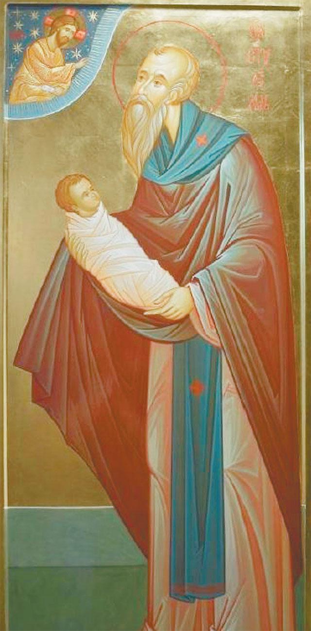 Икона святого Стилиана прибыла в Очаково-Матвеевское из Греции в начале лета.