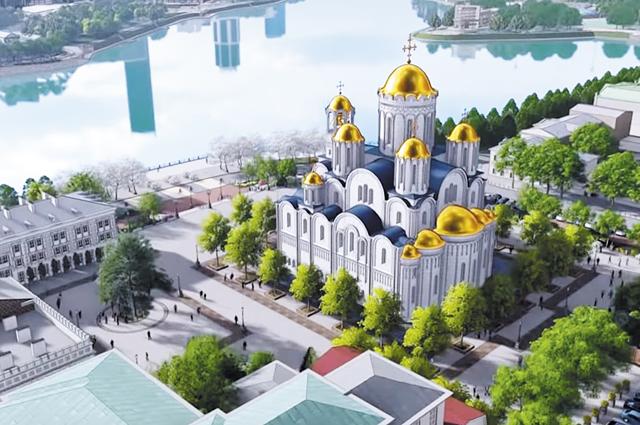 Проект храма на новом месте