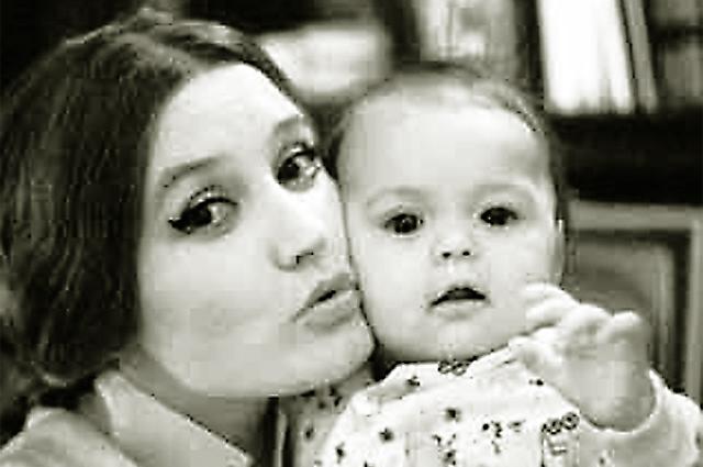 Вера Алентова с дочерью.
