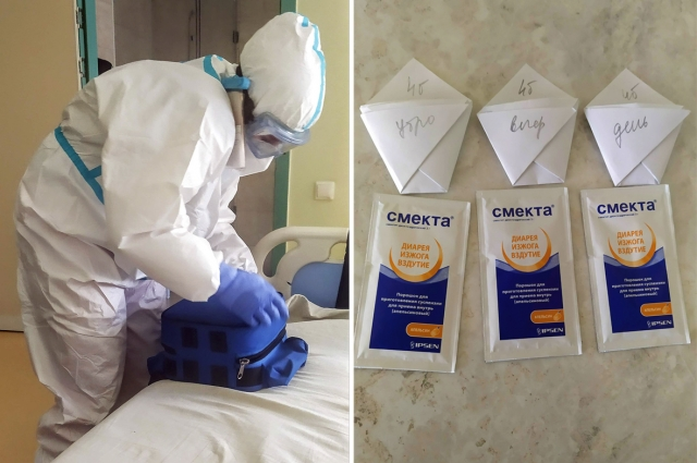 Моя чудесная медсестра Юлия готовится сделать ЭКГ прямо в палате. Смекта - она и в Африке поможет!