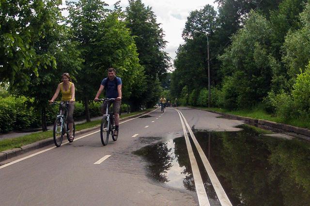Велодорожка в Парке Горького