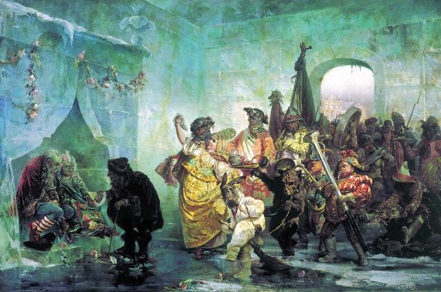 В. Якоби. «Ледяной дом», 1878.Государственный Русский музей.