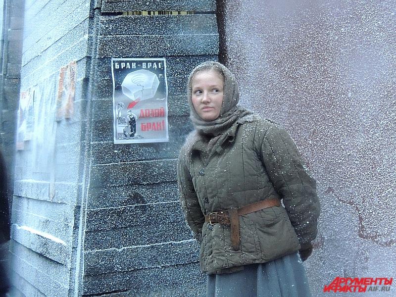 Во времена блокаду Дорогу Победы строили молодые девушки.