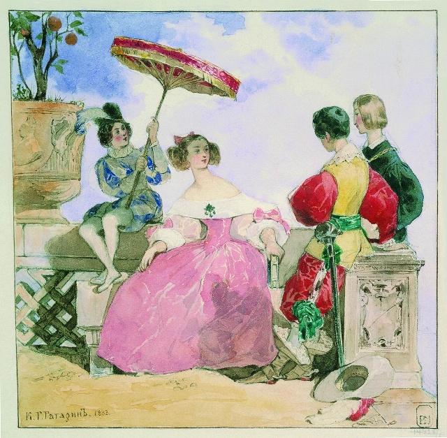 Одна из многочисленных иллюстраций к литературным произведениям.