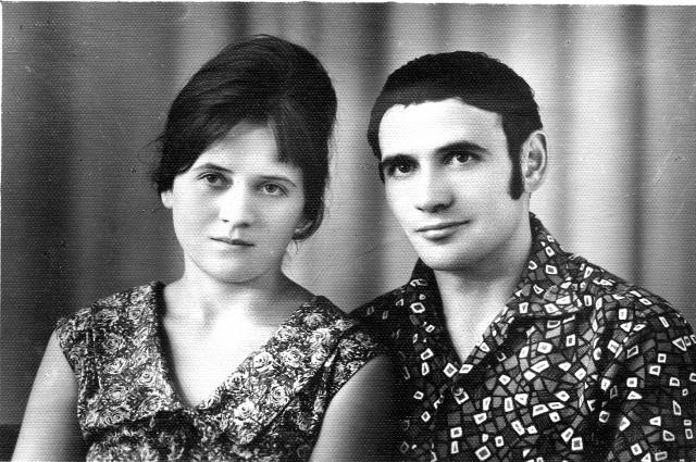 С женой Александрой.