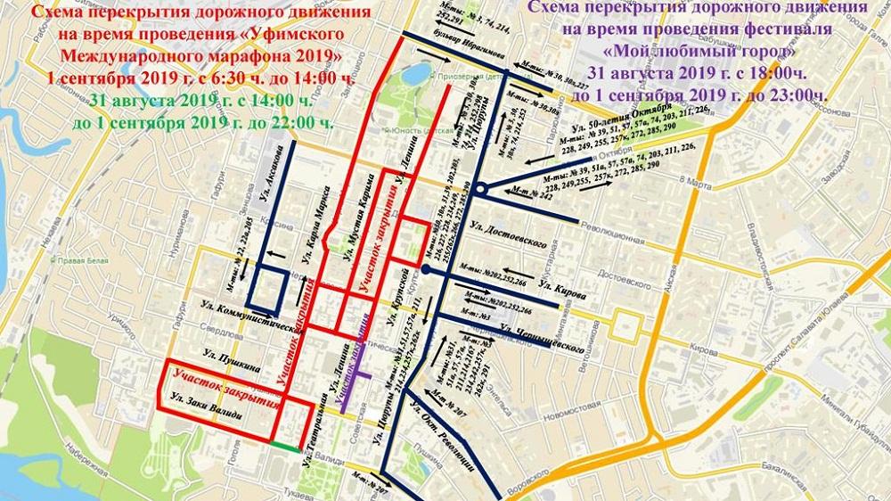 Схема закрытия движения