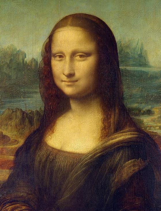 Фрагмент картины «Джоконда», Леонардо да Винчи. 1503—1519