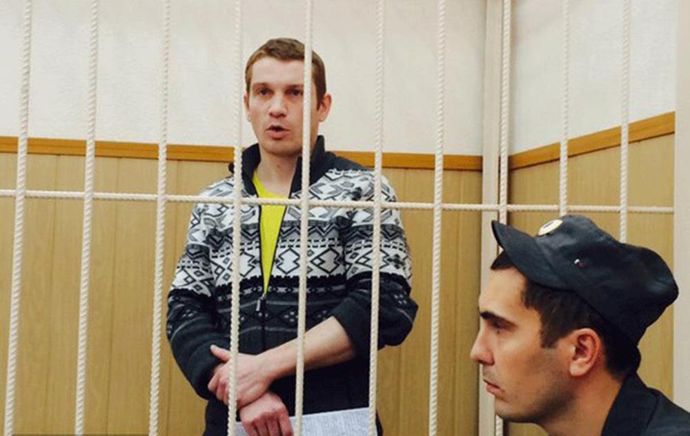 Вадим Тюменцев в зале суда.