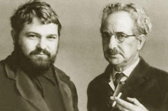 Юлиан Семёнов с отцом.