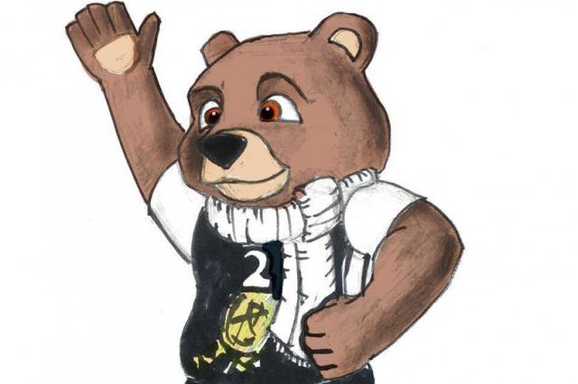 Бурый медведь символизирует с виду доброго, но опасного хищника, живущего в тайге Красноярья. Воплощает силу, мощь и храбрость.