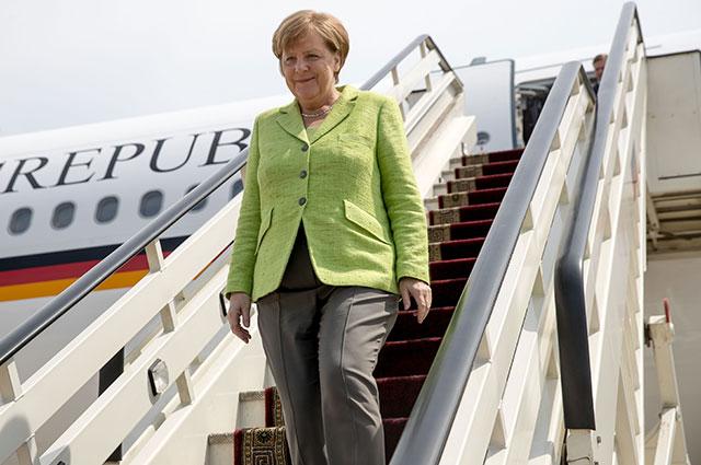 Ангела Меркель в аэропорту Сочи.
