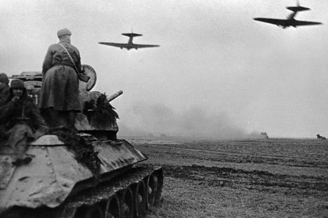 Бой в районе Бреслау. Март 1945 год.