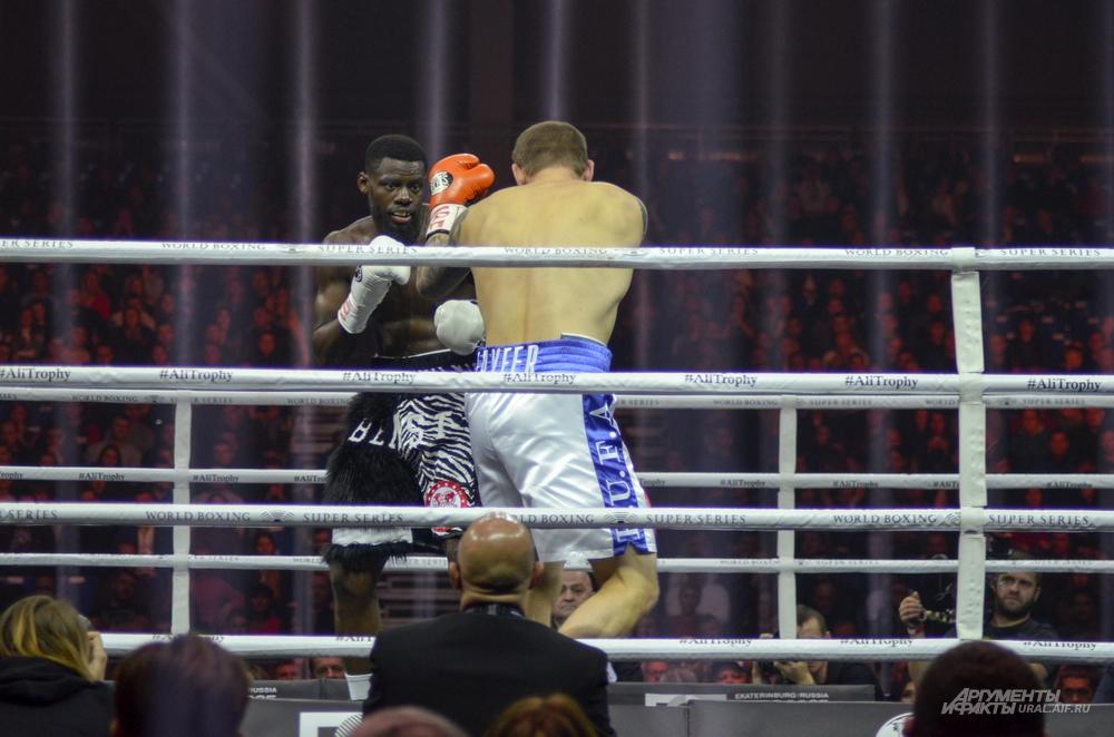 Четвертьфинал Всемирной боксерской суперсерии в Екатеринбурге