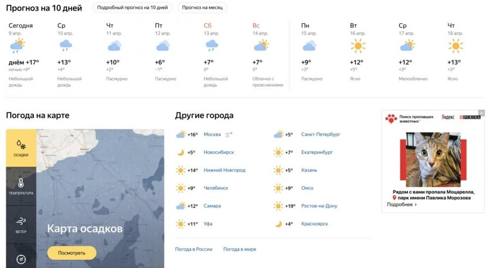 Объявление о найденных и потерявшихся животных будут показаны другим пользователям сервисов Яндекса