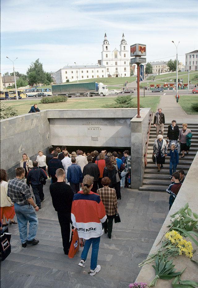 Подземный переходе устанции метро «Немига».