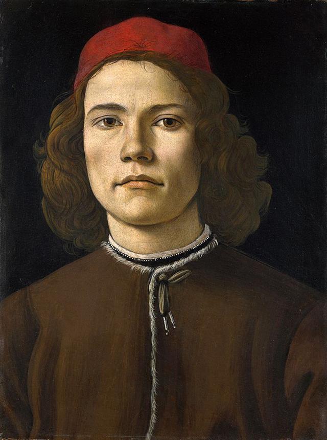 Портрет молодого человека, Сандро Боттичелли. ок. 1483