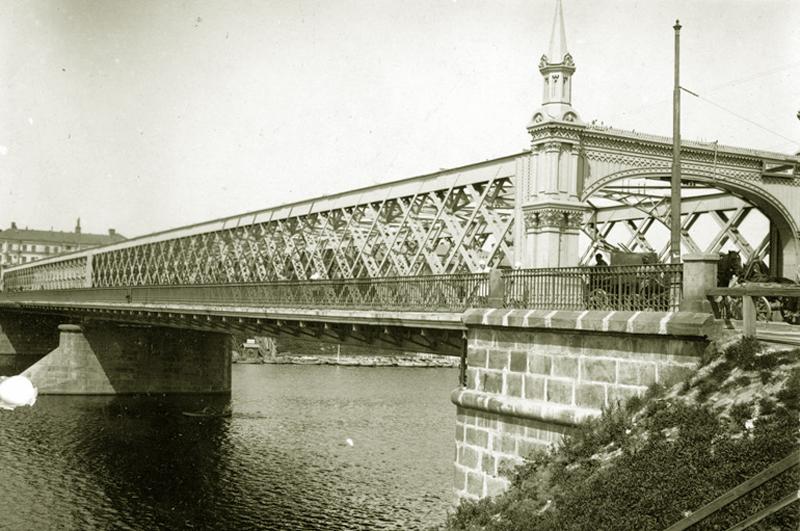 Крымский мост. Снимок сделан между 1920 1930 годами
