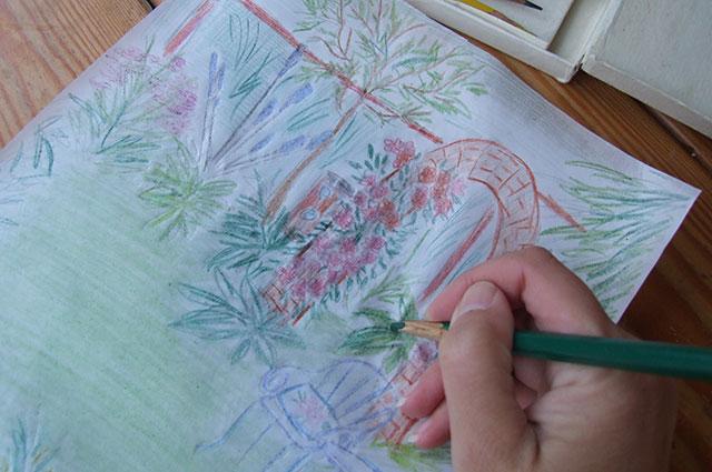 Разукрасьте и составьте цветовую палитру.