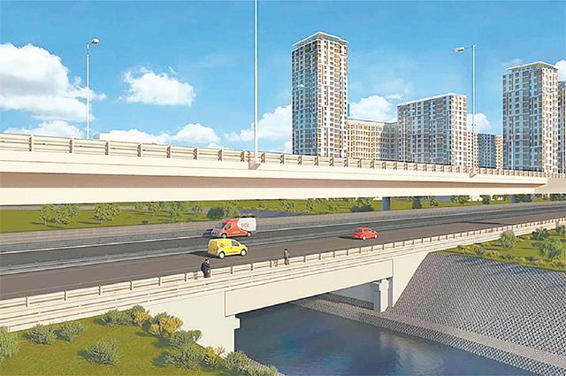 Северо-Восточная хорда будет пересекать Яузу по шестиполосному мосту.
