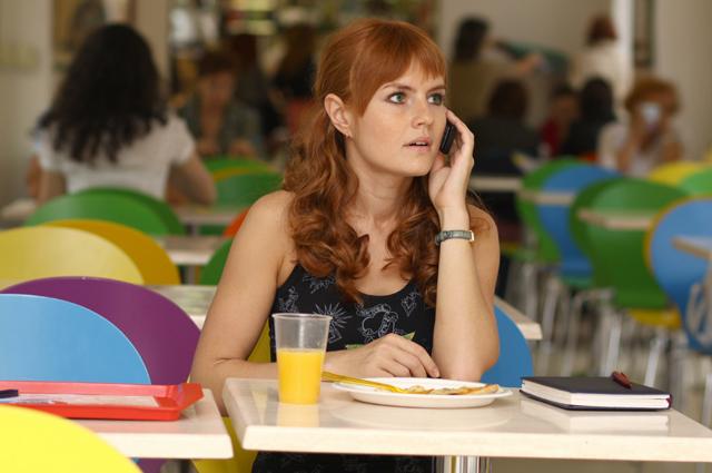 Студентка, обед, девушка, телефон, сок
