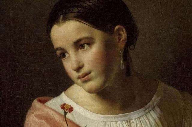 В 1827 году Орест Адамович Кипренский пишет картину «Бедная Лиза».