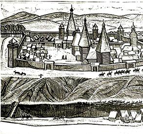 Красноярский острог, гравюра 17 века
