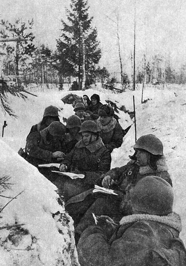 Красноармейское партсобрание в окопах, финская война