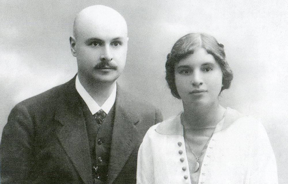 Молодожены Арнольд Иванович и Ольга Федоровна Бренинги. 1915 год.