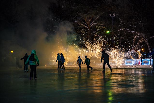 Праздник огня в Центральном парке.
