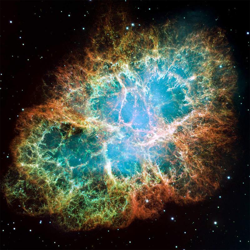 Крабовидная туманность расширяющееся газовое облако, образованное вспышкой сверхновой в 1054 г