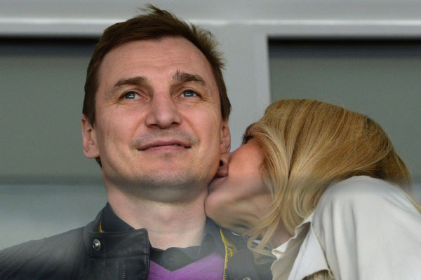 Сергей Федоров с женой Кариной