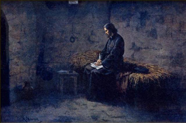 Йозеф Матхаузер. Ян Гус в темнице