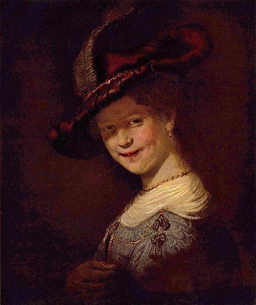 Картина «Смеющаяся Саския» сегодня хранится в Дрезденской галерее.