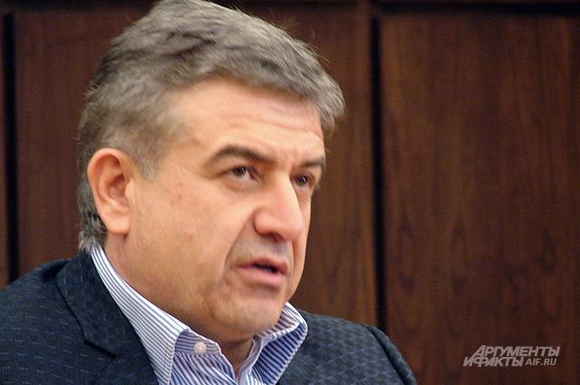 Премьер-министр Карен Карапетян