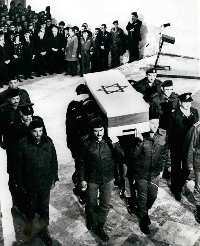 Похороны Голды Меир.