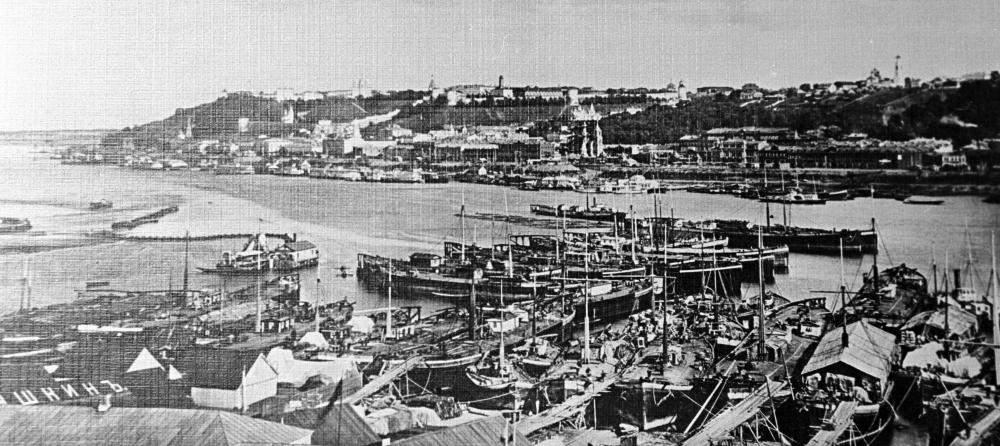 Панорама Нижнего Новгорода. 1890 год.