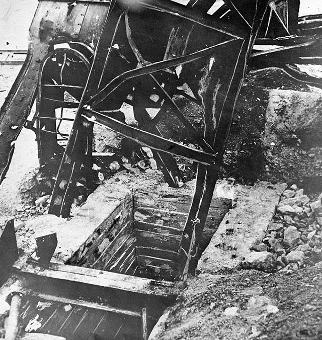 Ствол шахты, где были казнены гитлеровцами члены подпольной организации «Молодая гвардия».