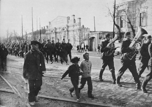 Ул. Фрунзе в Таганроге, период фашистской оккупации