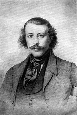 Михаил Бакунин, 1843 г.