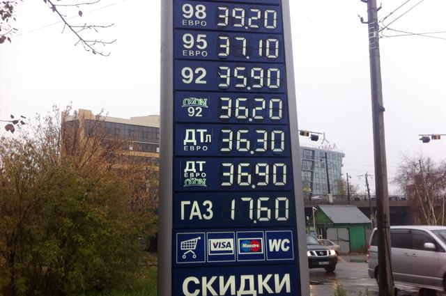 Такие цены на топливо «АиФ-Иркутск» зафиксировал в сентябре 2014 года.