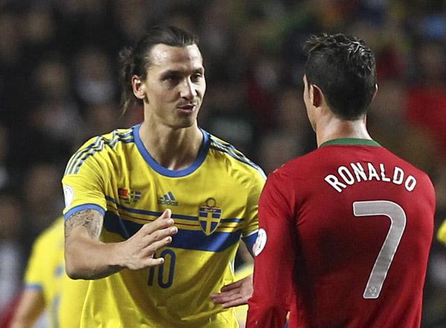 Златан Ибрагимович благодарит Криштиану Роналду за хорошую игру в стыковых матчах