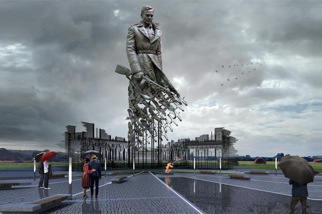 Такой монумент появится в 2020 г. в Тверской области в память о сотнях тысяч бойцов, погибших в боях подо Ржевом.