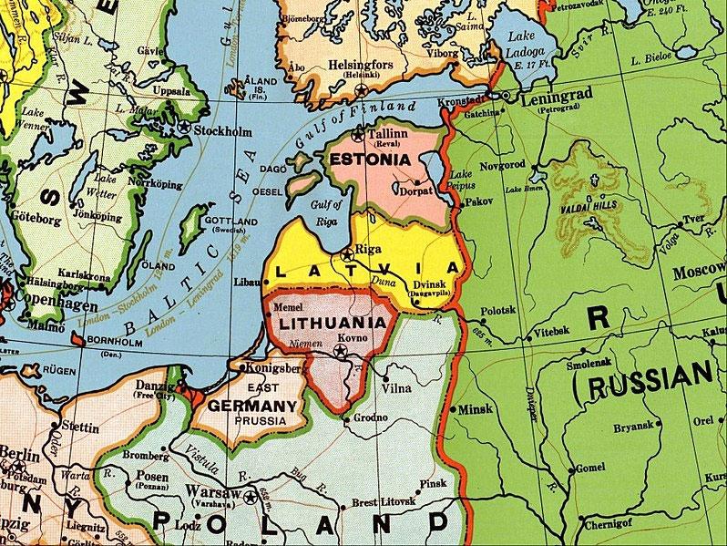 Участники Балтийской Антанты. Нажмите для увеличения