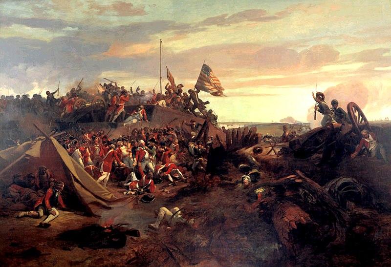 Эжен Луи Лами. Штурм редута 10 во время осады Йорктауна.