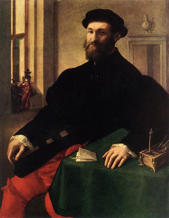 Джулио Кампи. Мужской портрет.