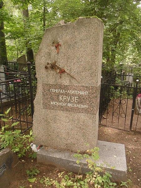 Могила Крузе на Богословском кладбище Санкт-Петербурга.