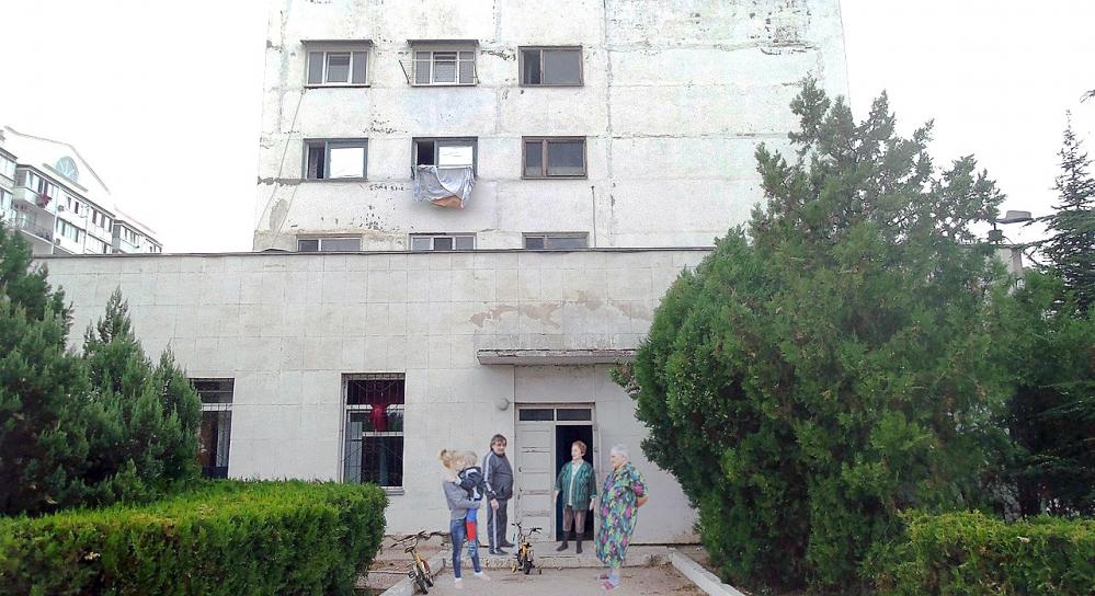 Здание общежития.