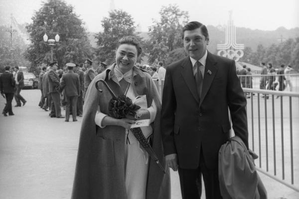 Галина Брежнева, дочь Генерального секретаря ЦК КПСС Л.И.Брежнева и Юрий Чурбанов.