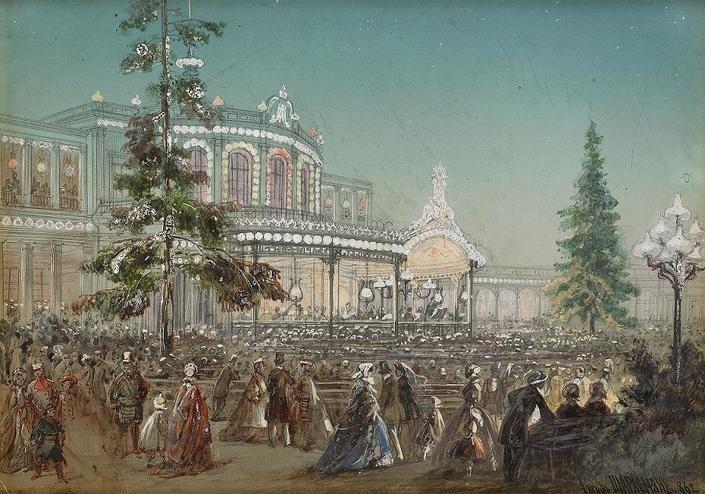 Традиция проводить на вокзалах балы, выставки и концерты пошла от знаменитого «музыкального вокзала» в Павловске.